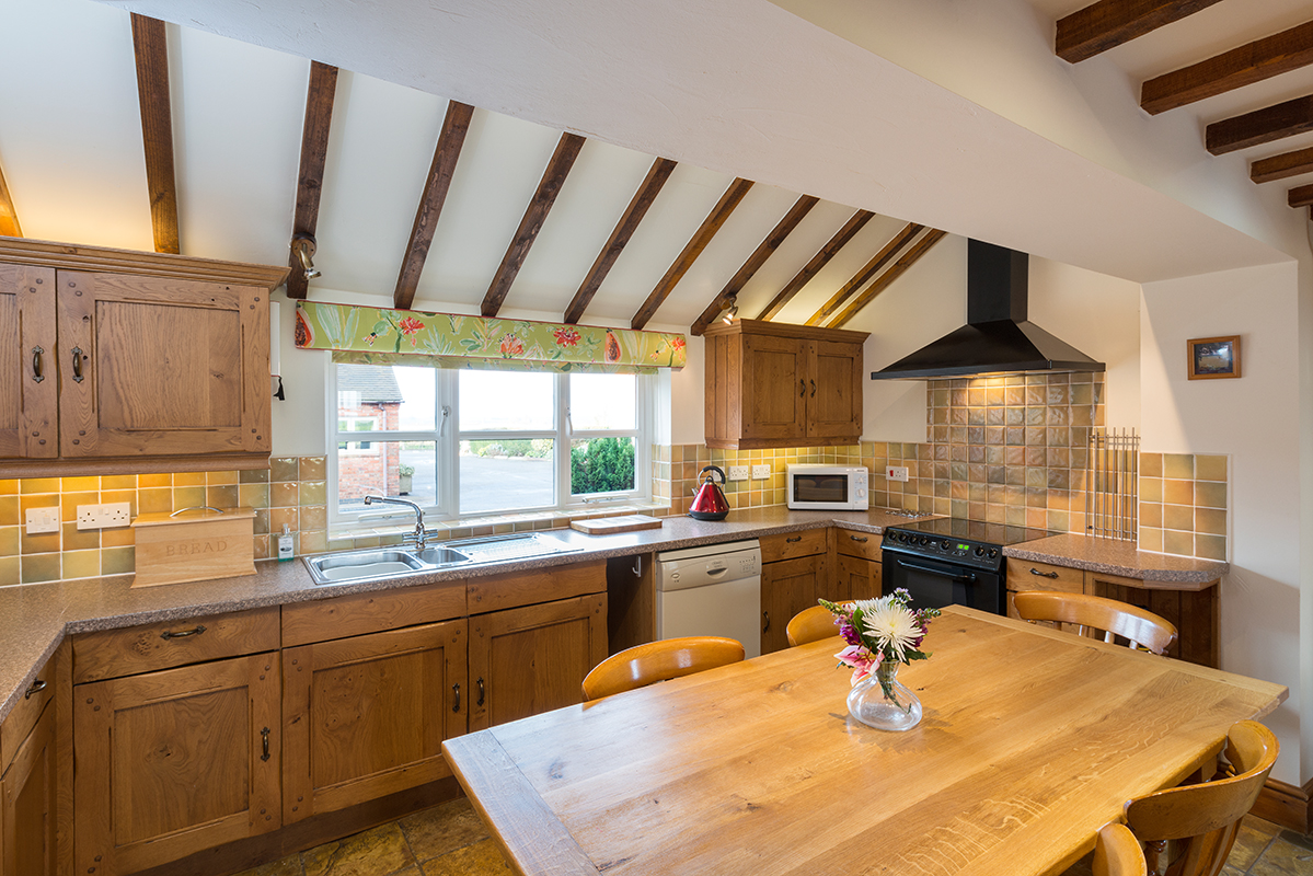 Bespoke country style kitchens in our luxury holiday accommodation | Upper Rectory Farm Cottages