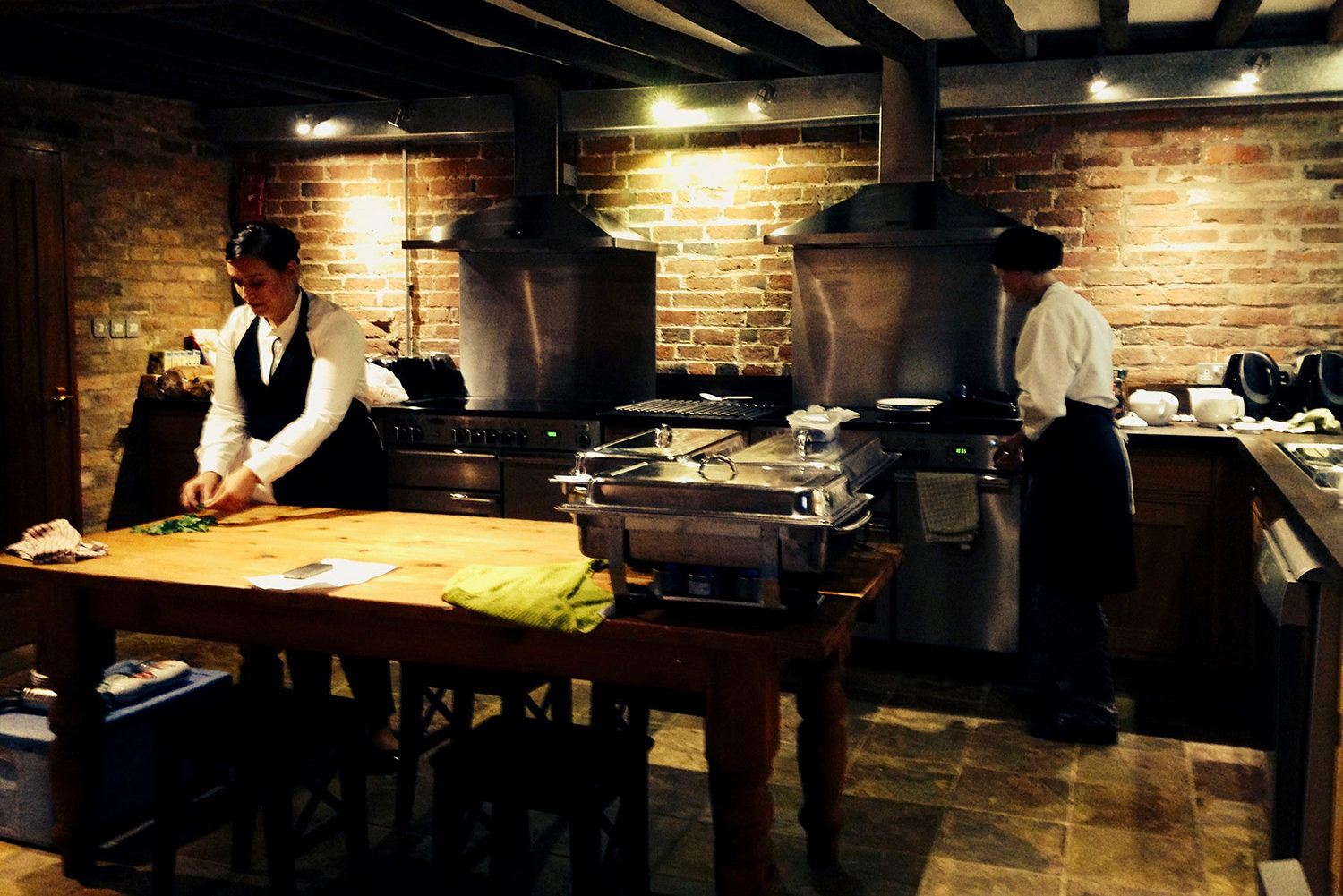 Professional caterers at our corporate events retreat in central England | Upper Rectory Farm Cottages