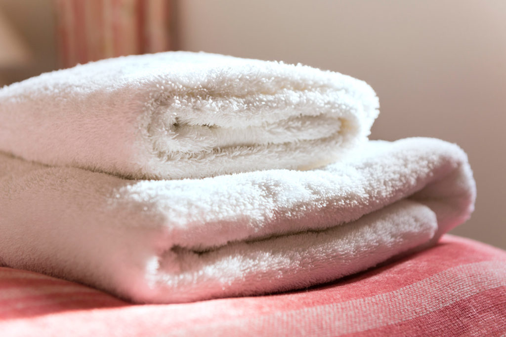 Luxury cotton towels and bed linen at our holiday cottages | Upper Rectory Farm Cottages