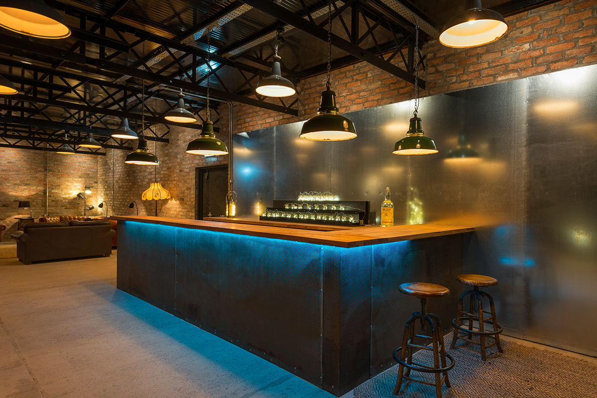 Bar and social space at our wedding venue Norton Fields | Upper Rectory Farm Cottages